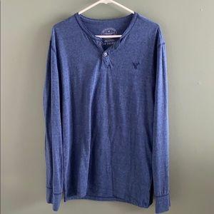 Men's American Eagle Blue Long Sleeve Shirt